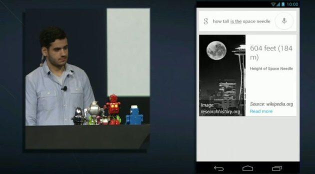 Google Search en Android 4.1, compitiendo con Siri 32