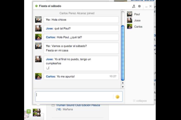 Tuenti ya dispone de chat de grupo