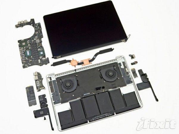 El MacBook Pro con Retina display es el portátil más difícil de reparar del mundo