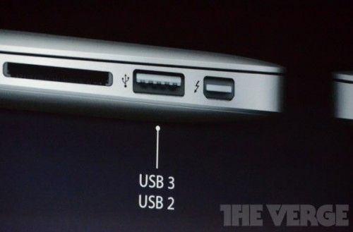macbook air 13 usb 3 500x329 Los nuevos MacBook Air llegan con USB 3.0