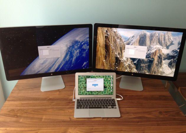 Los nuevos MacBook soportan configuraciones de hasta 4 monitores
