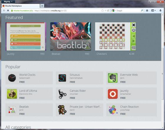 Mozilla Marketplace: centro de descarga de aplicaciones Windows, Mac y Linux 31