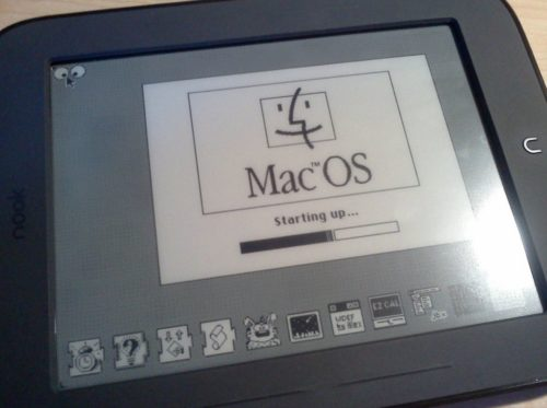 MacOS instalado en un Nook Simple Touch