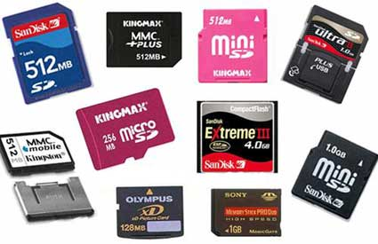tarjetas de memoria tipos