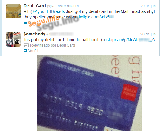 Compartir imágenes de tarjetas de crédito en Twitter ¿moda o estupidez?