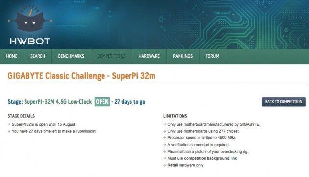 Participa en el concurso mundial de overclock GIGABYTE Classic Challenge 30