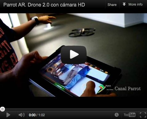 AR.Drone 2.0 con cámara 720p