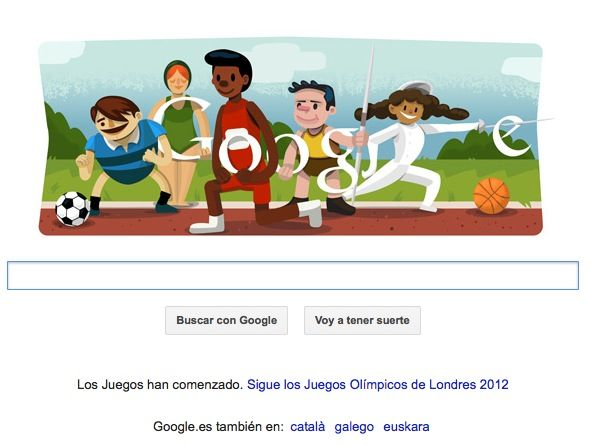 Google Doodle olimpiadas
