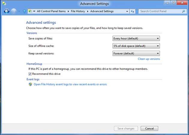 File History, un Time Machine para Windows 8 28