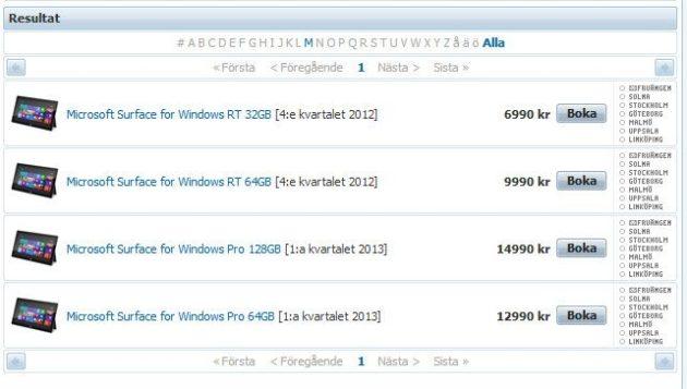 Precios oficiosos de los tablet Surface de Microsoft 29