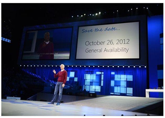 Fecha de lanzamiento de Windows 8: 26 de octubre 28