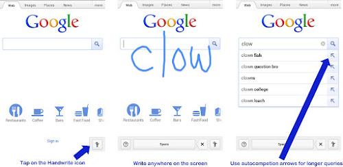 Escribe a mano lo que buscas en Google en tu smartphone / tablet táctil 31