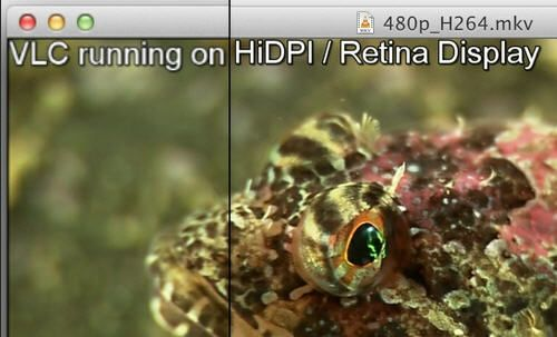 VLC 2.0.2 da soporte a la tecnología Retina display