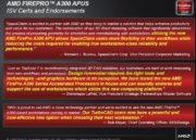 AMD lanza su APU profesional AMD FirePro 48