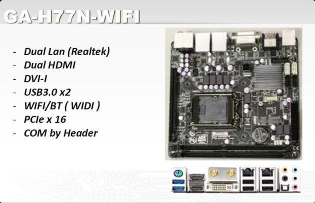GIGABYTE GA-H77N-WiFi, placa miniITX con soporte Ivy Bridge
