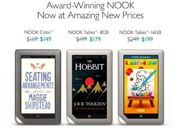 Barnes & Noble abarata los Nook 28