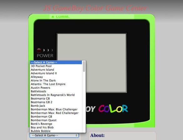 Emulador de Gameboy Color en HTML5 / JavaScript a través del navegador 29