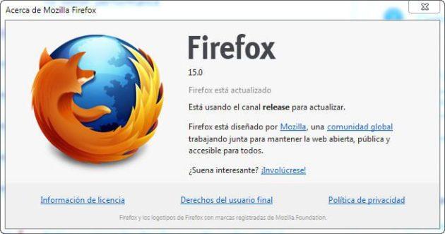 Ya puedes descargar Firefox 15