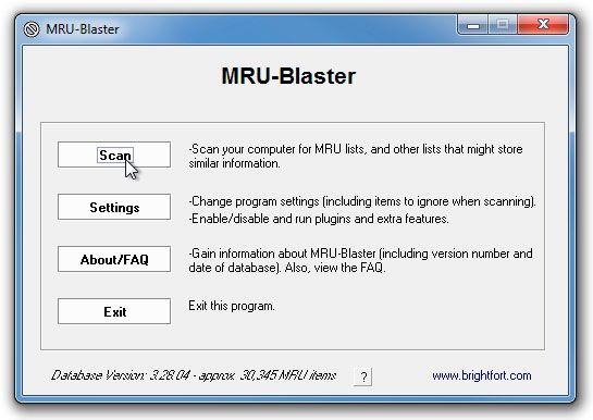 MRU Blaster Borra tu rastro digital con MRU Blaster