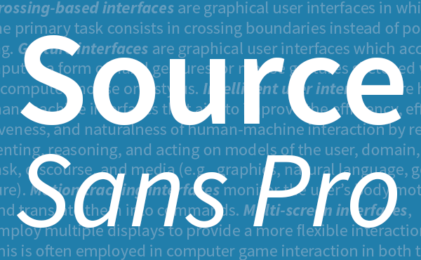 Adobe libera la familia de fuentes Source Sans Pro 27