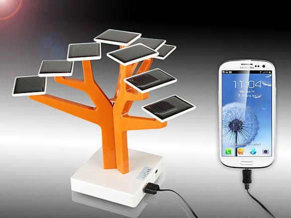 Árbol solar para cargar tu smartphone 29