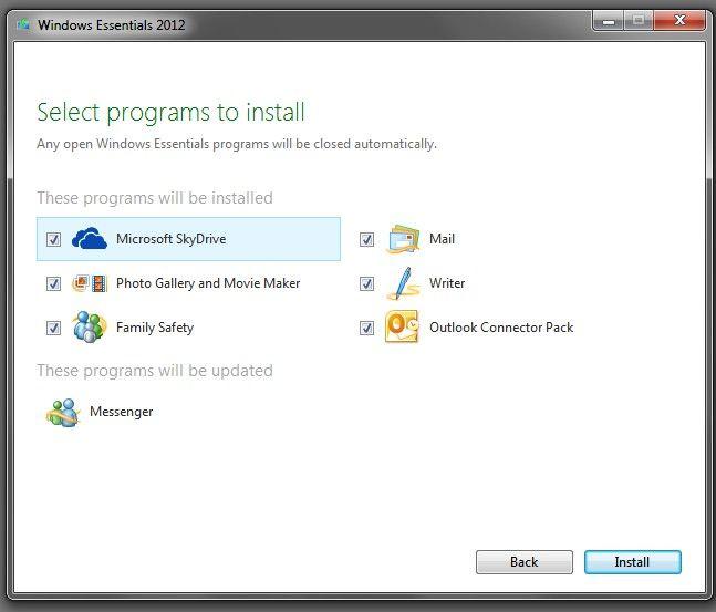 Microsoft Windows Essentials 2012 29