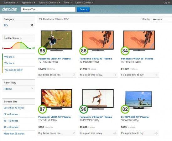 decide 2 549x450 Decide.com, el poder del big data para ayudarte con tus compras