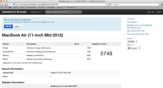 Review MacBook Air 11 pulgadas (mid 2012)