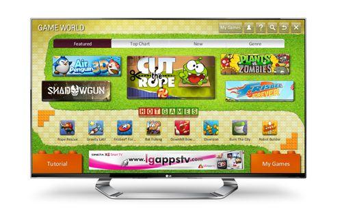 Game World, los videojuegos llegan a las LG SmartTV 32