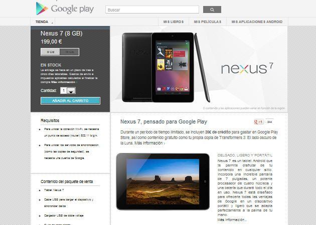 Nexus 7, ya a la venta en España a través de Google Play 27