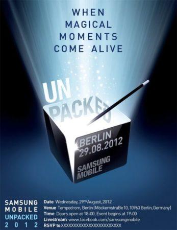 Samsung Galaxy Note 2 verá la luz en IFA 2012, el 29 de agosto 37