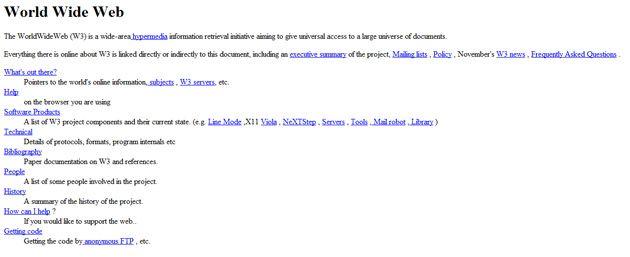 Se cumplen 21 años desde la primera página web 27