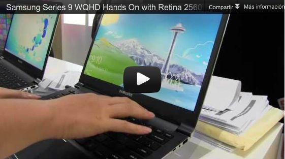 Samsung vs MacBook Pro Retina: Samsung serie 9 WQHD 37