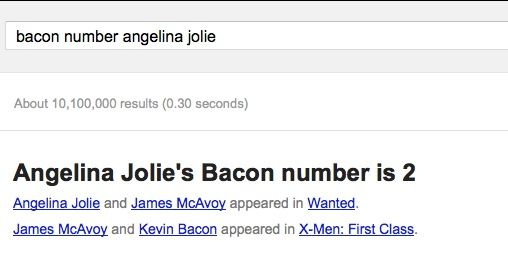 Huevo de pascua Google, los seis grados de separación con Kevin Bacon 32