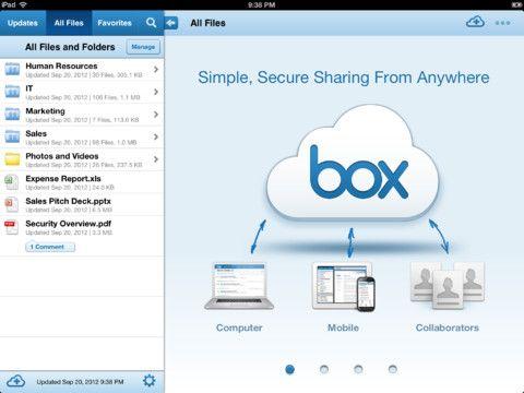 Consigue 10 Gbytes gratis de almacenamiento con Box en iPhone y iPad 29