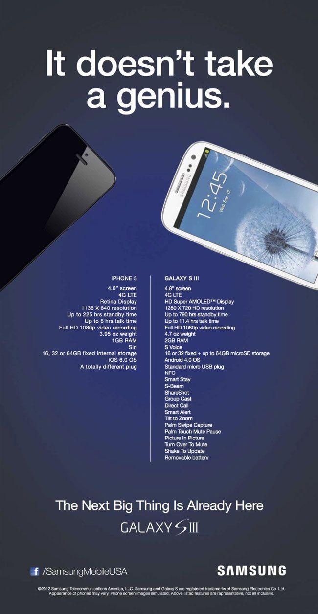 Galaxy S3 machaca en publicidad a iPhone 5 según Samsung 27