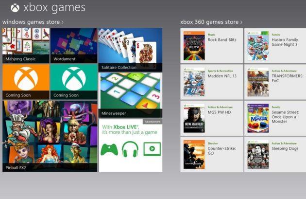Lista de juegos del servicio Xbox para Windows 8 32