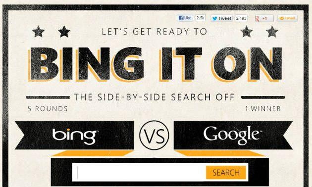 Bing it ON: Google vs Bing, tú juzgas quien gana 30