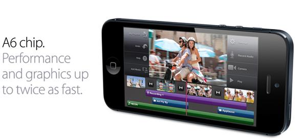 Apple A6, rendimiento impresionante -doble núcleo a 1,02 GHz-