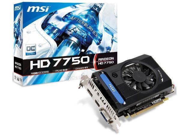 MSI anuncia su gráfica Radeon HD 7750 OC V2 30