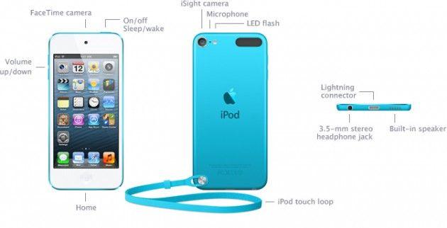 specs connectors1 630x322 iPod touch 5G: especificaciones, características y precio