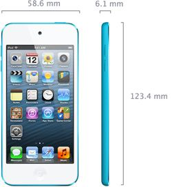 specs size iPod touch 5G: especificaciones, características y precio