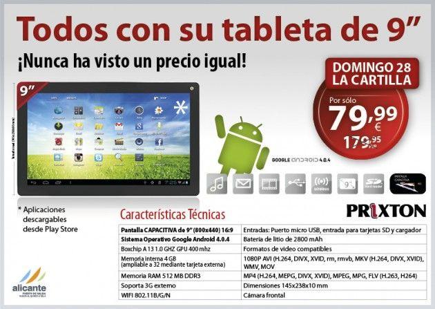 Tablet Android Prixton, promoción El Mundo, veamos si merece la pena 39
