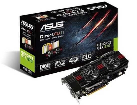 ASUS anuncia nueva gráfica GeForce GTX 670 4GB 27