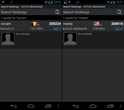 Filtración de los futuros Motorola Occam y Manta, rendimiento impresionante 32