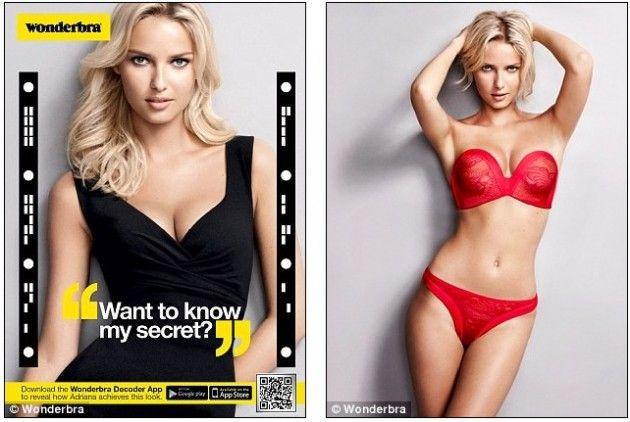 Wonderbra Decoder, app móvil viral que desnuda a la modelo de la marca