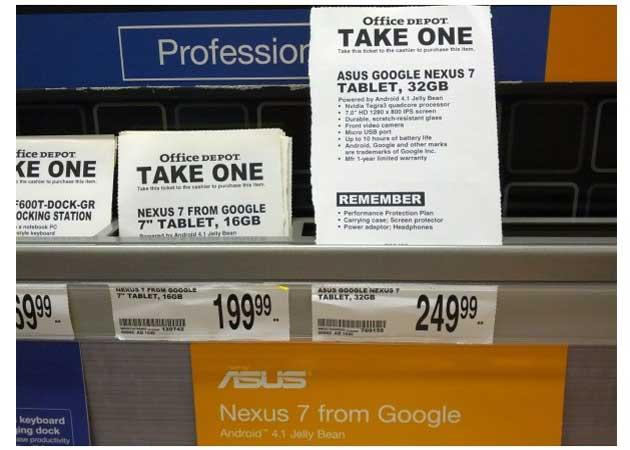 Tablet Nexus 7 32 GB, a la venta 29
