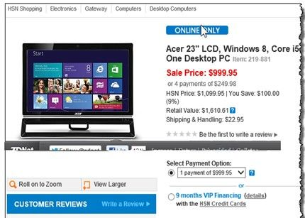 HSN windows8 Equipos de Windows 8 a la venta antes de tiempo