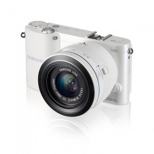 NX1000 004 Right Angle white 500x500 Samsung NX1000, 20 megapixeles en una mirrorless para todo el público