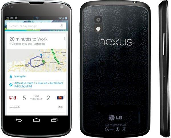 Nexus 4 Google LG Nexus 4, disponible el 13 de noviembre desde 299 euros